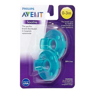Philips Avent Soothie 0-3mth Green/Green, 2 count