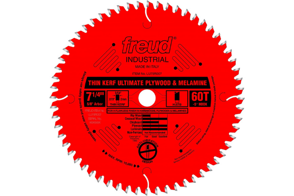 Freud-7-1-4quot-x-60T-Thin-Kerf-Ultimate-Plywood-amp